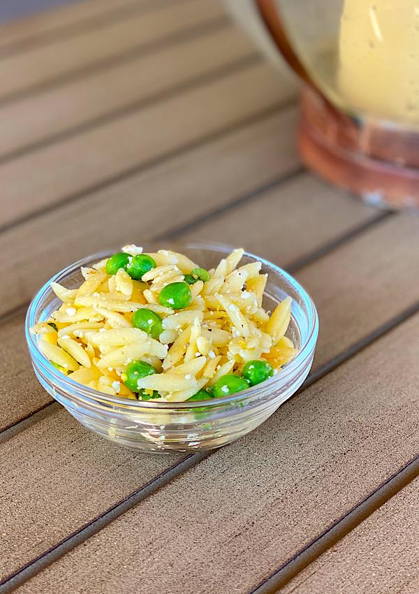 citrus orzo salad  at lara's table